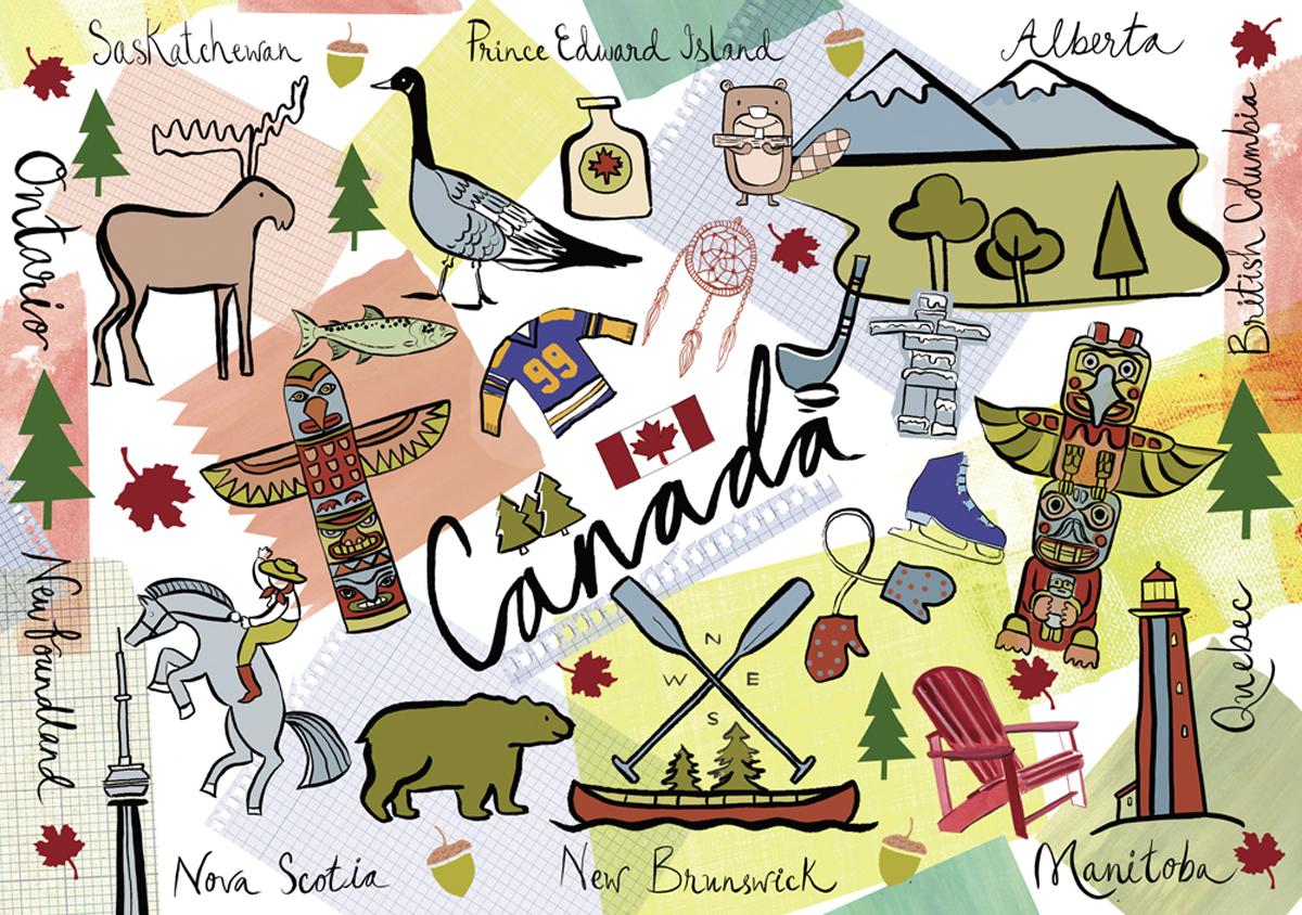 Canada - Zaman Travel Jigsaw Puzzle