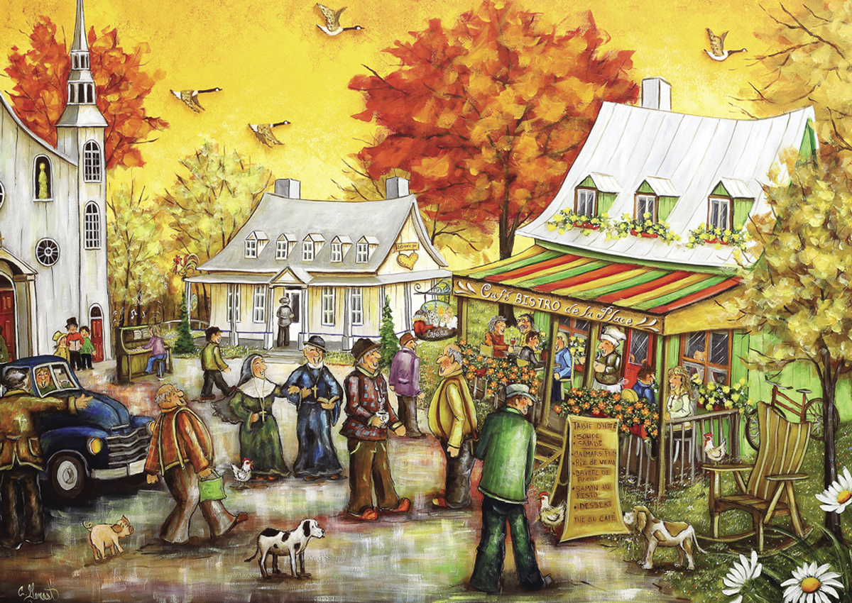 Cafe Bistro People Jigsaw Puzzle
