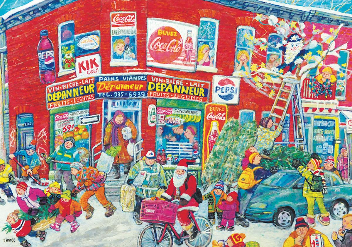 Christmas Spirit Street Scene Jigsaw Puzzle