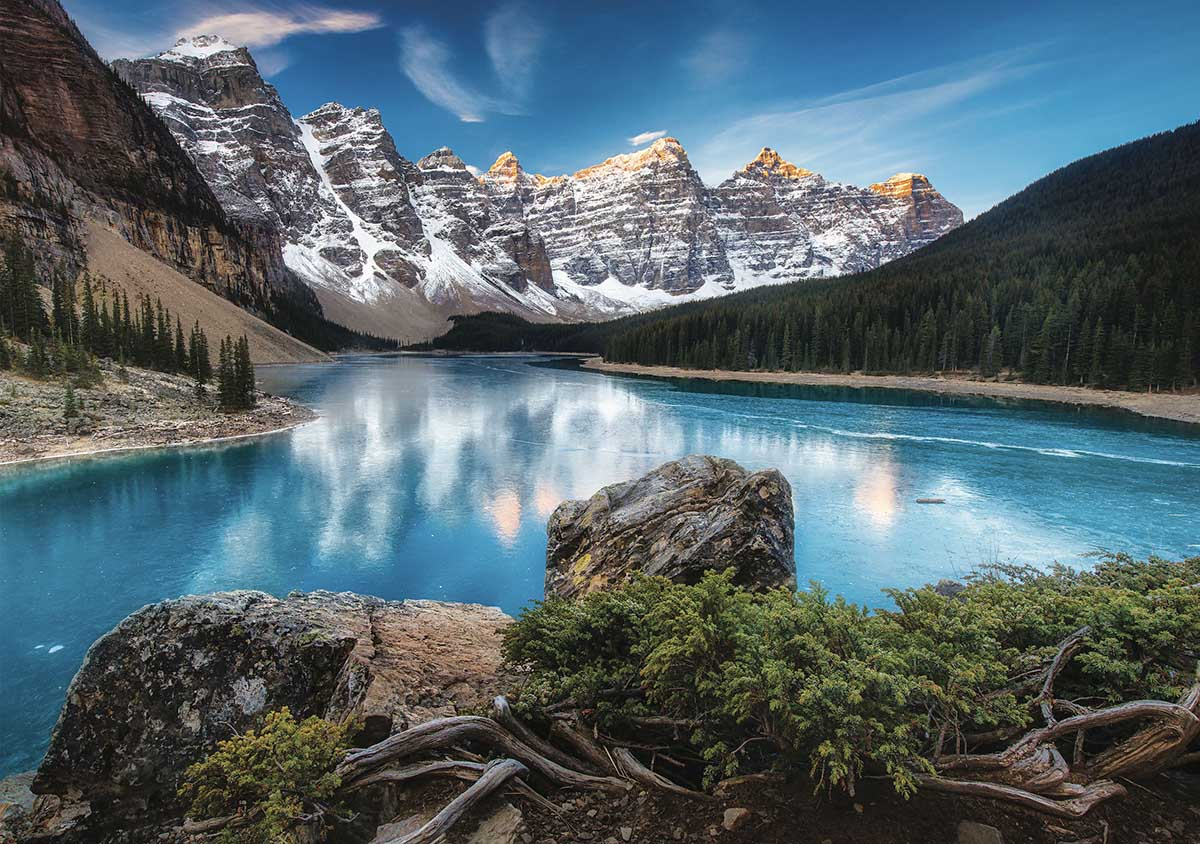 Lac Moraine Mountains Jigsaw Puzzle