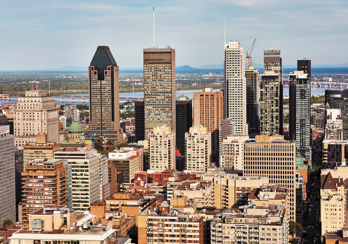 Downtown Montreal Canada Jigsaw Puzzle