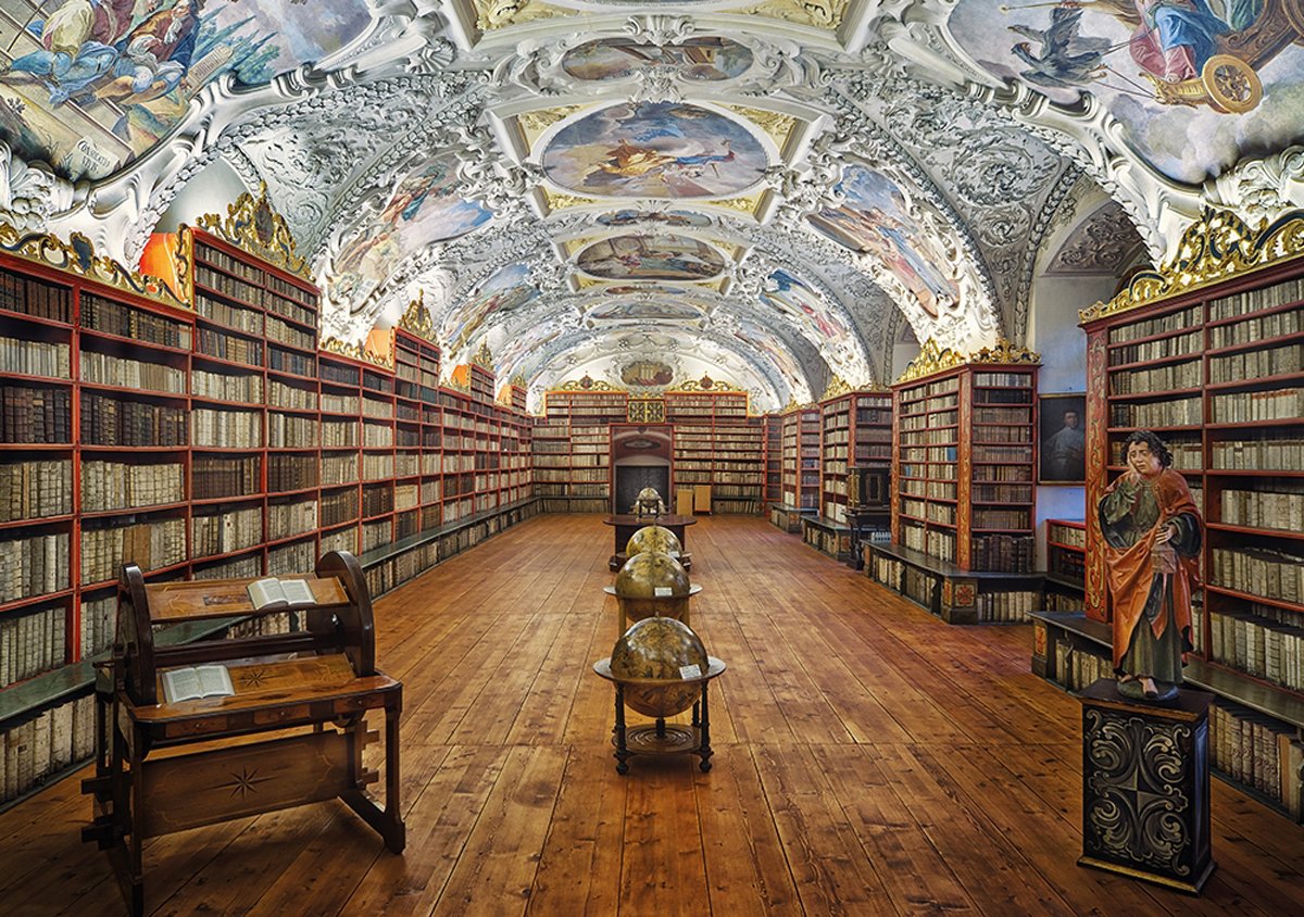 Monastery Library Religious Jigsaw Puzzle