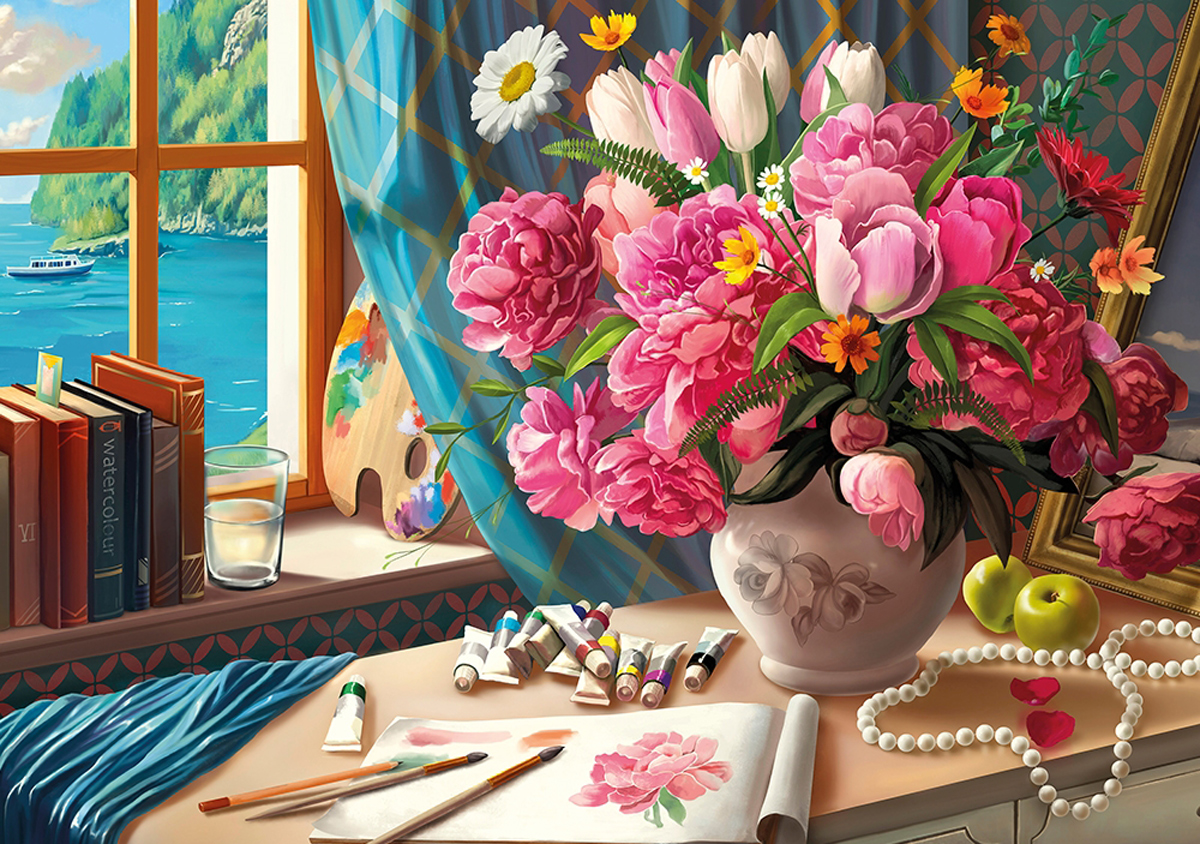 Creative Moment Flowers Jigsaw Puzzle