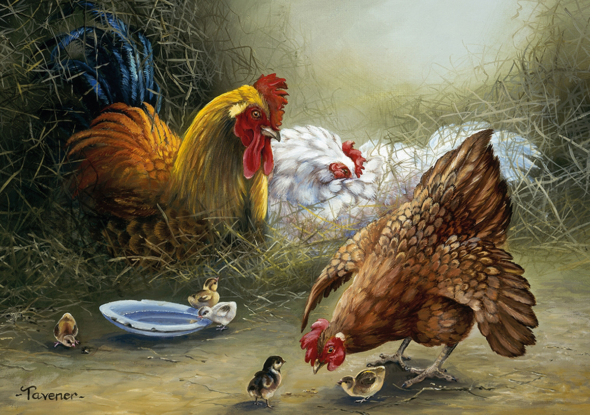 Mum's In Charge Chickens & Roosters Jigsaw Puzzle