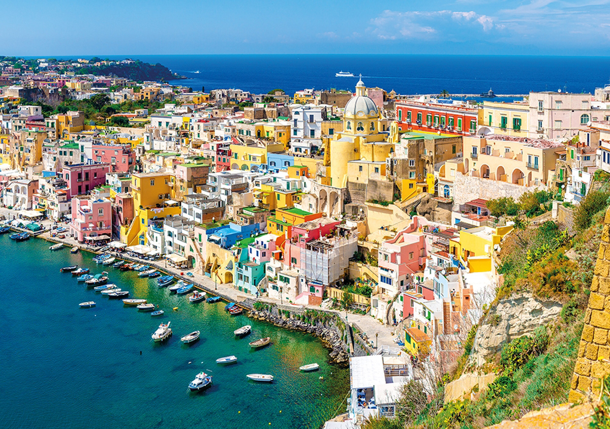 Colorful Houses Italy Jigsaw Puzzle