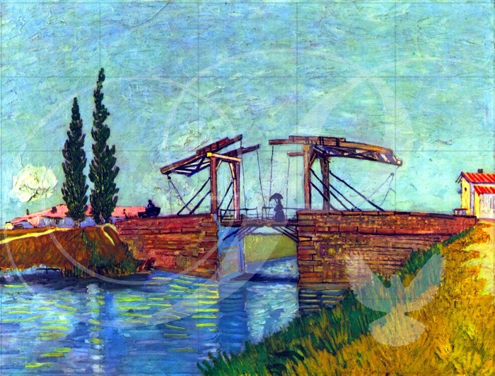 The Anglois Bridge at Arles Impressionism Wooden Jigsaw Puzzle