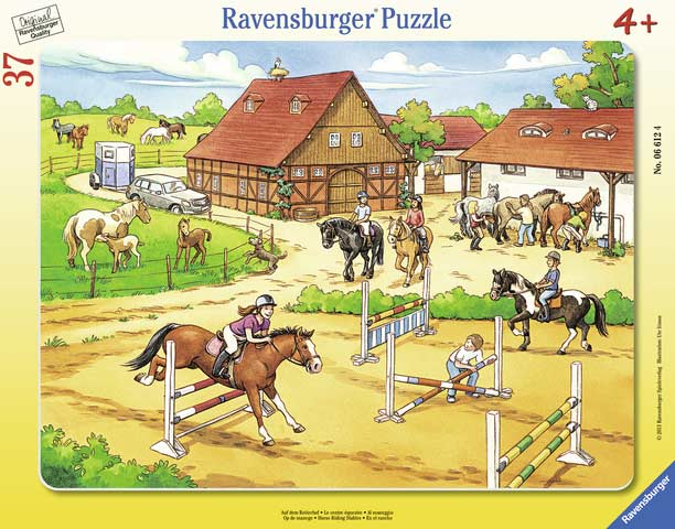 Horse Riding Stables - Frame Puzzle Horses Children's Puzzles
