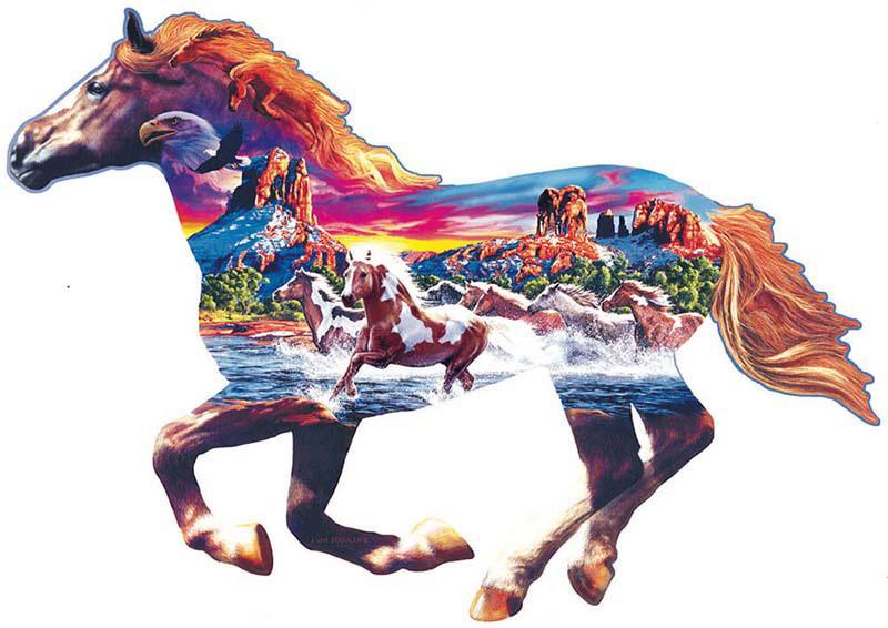 Sedona Gallop Horses Jigsaw Puzzle