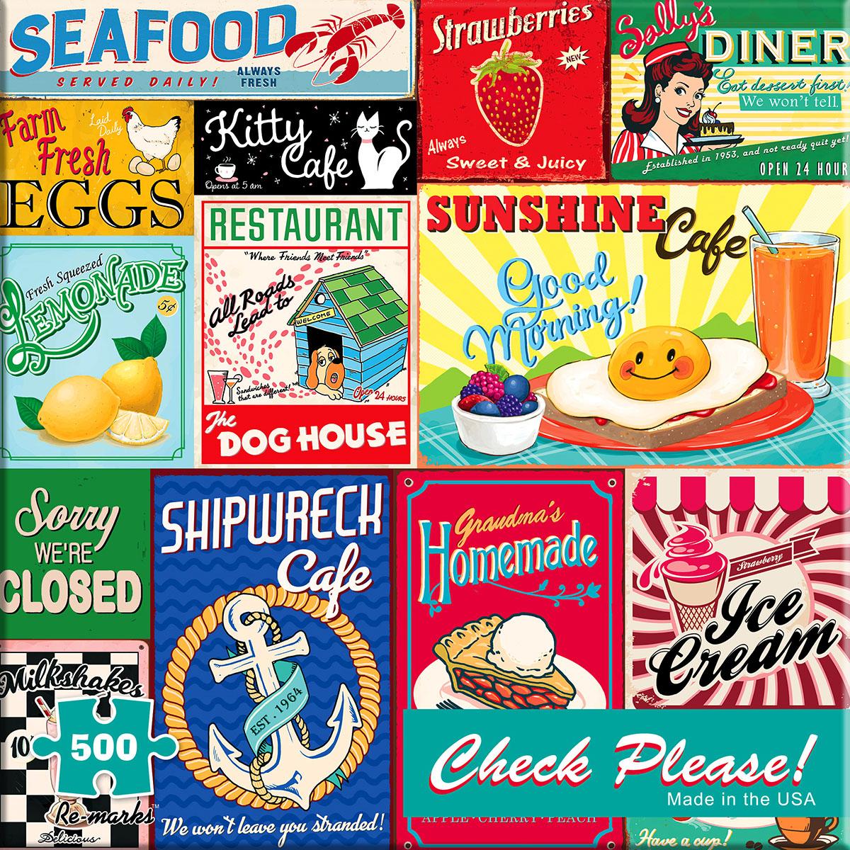 Vintage Signs Nostalgic / Retro Jigsaw Puzzle
