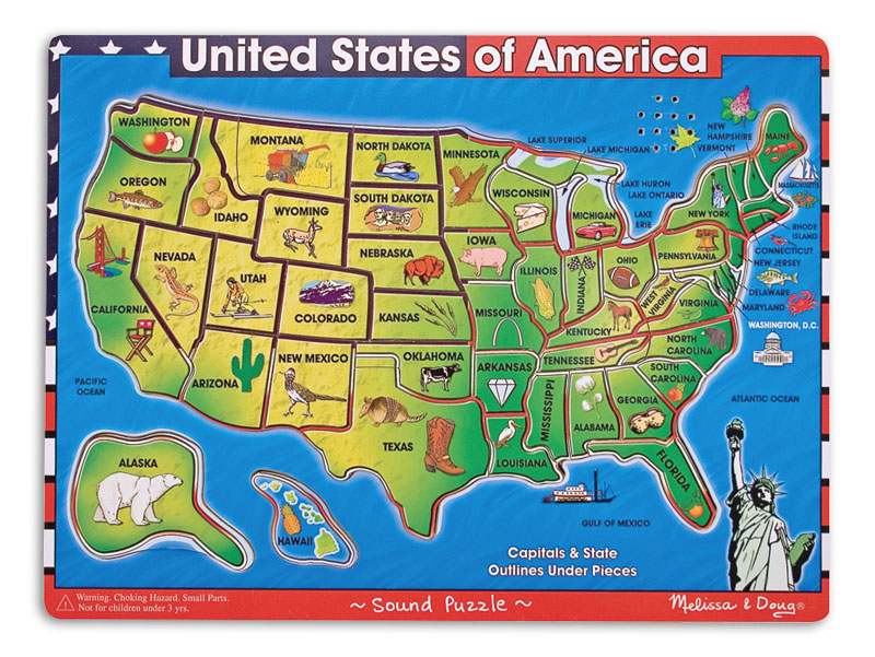 U.S.A. Map Maps / Geography Jigsaw Puzzle