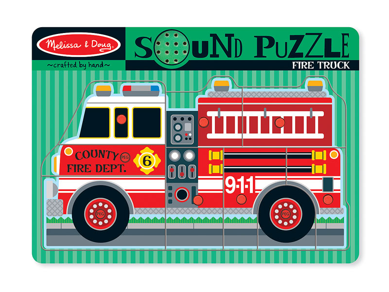 Sound Puzzle - Fire Truck Vehicles Children's Puzzles