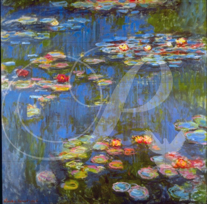 Waterlillies Impressionism Wooden Jigsaw Puzzle