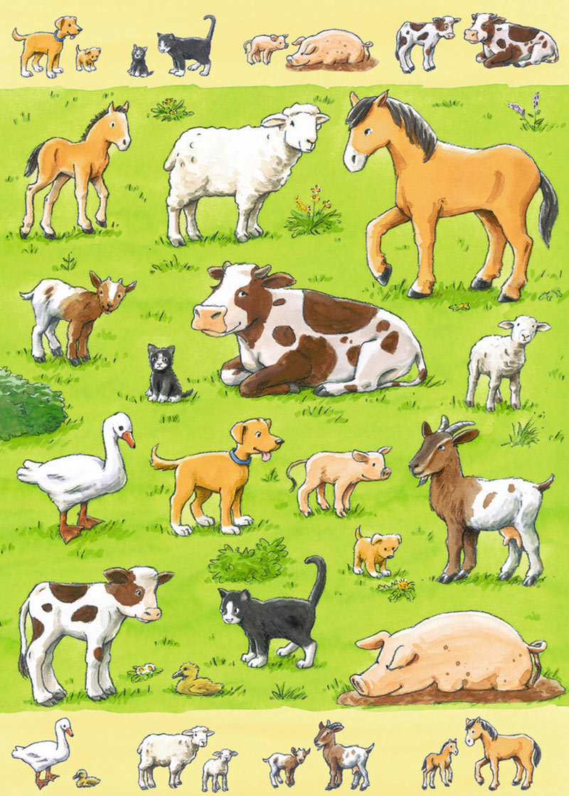 Animals Amp Their Babies Jigsaw Puzzle Puzzlewarehouse Com
