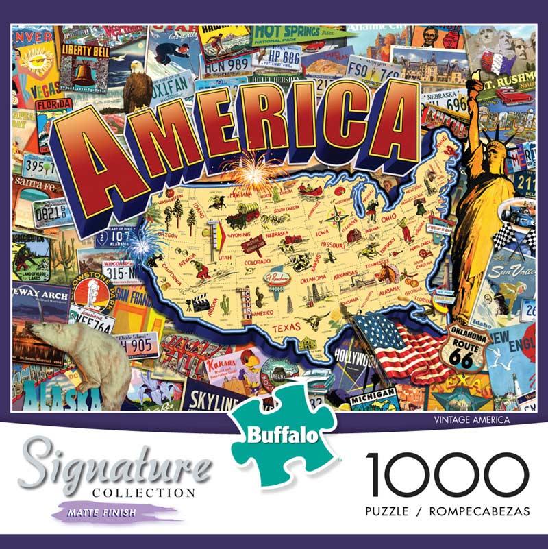 Vintage America Landmarks / Monuments Jigsaw Puzzle
