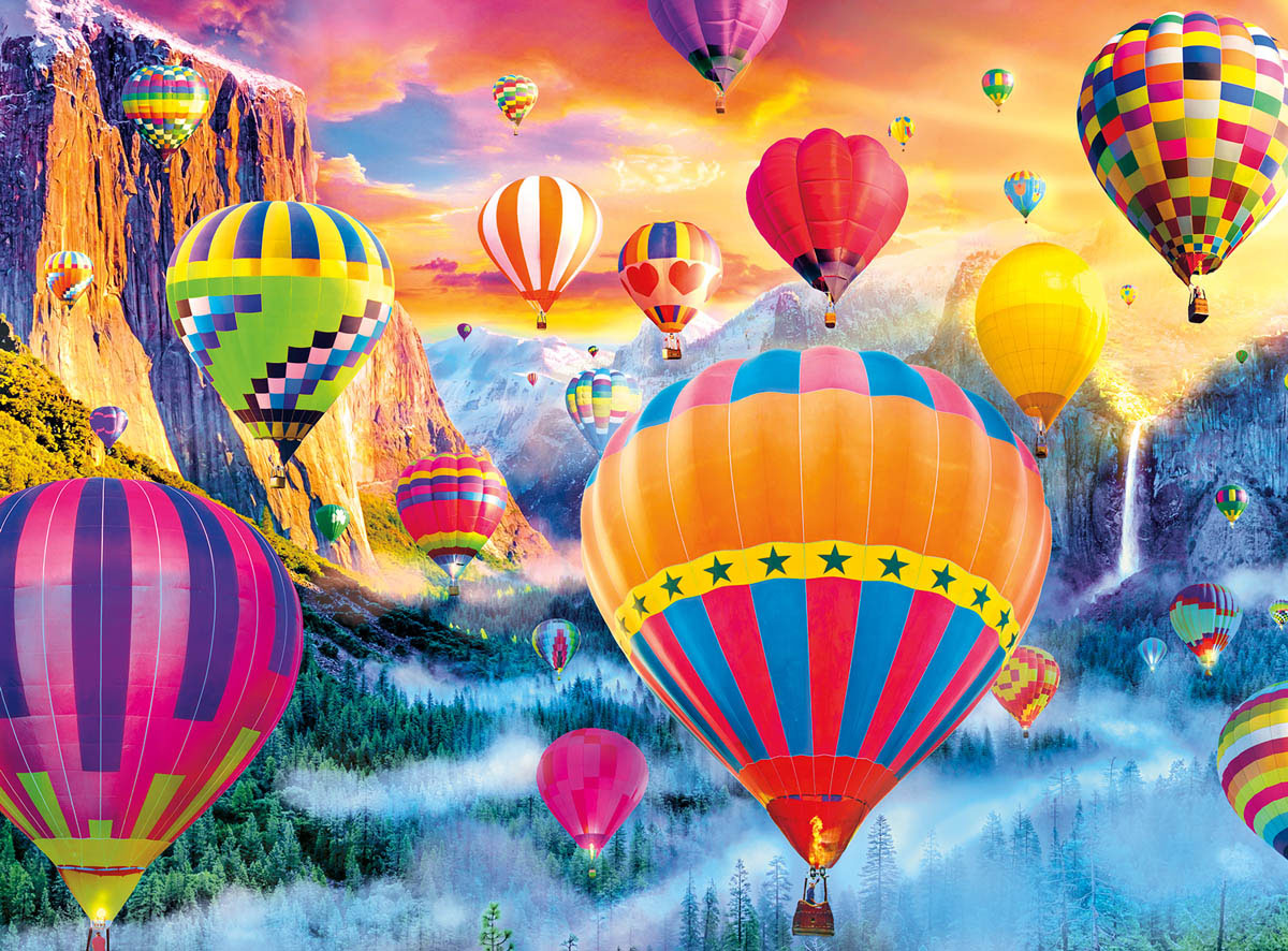 Balloon Valley Mountains Jigsaw Puzzle