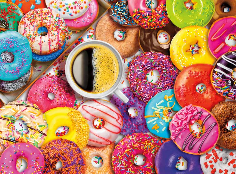 Coffee and Donuts Food and Drink Jigsaw Puzzle
