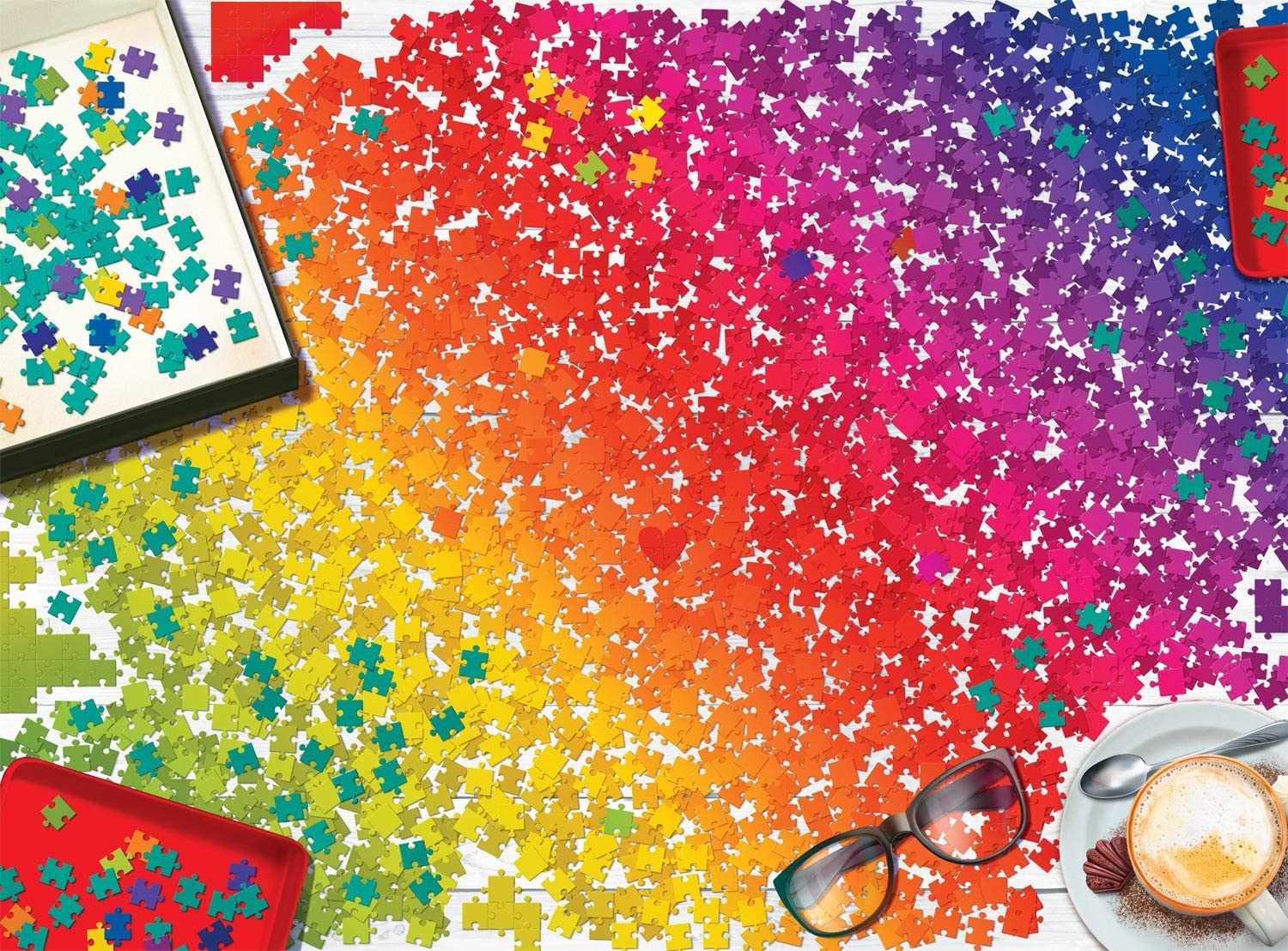Puzzle Rainbow Everyday Objects Jigsaw Puzzle