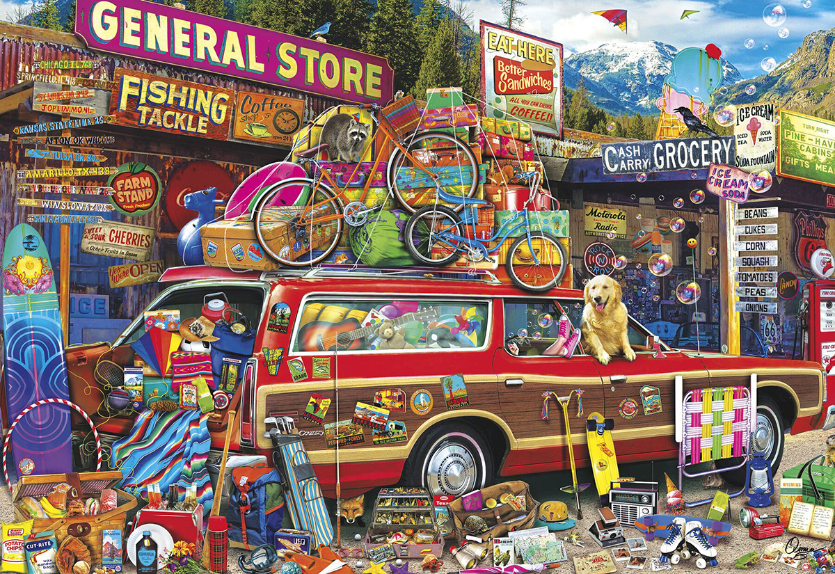 Family Vacation Nostalgic / Retro Jigsaw Puzzle