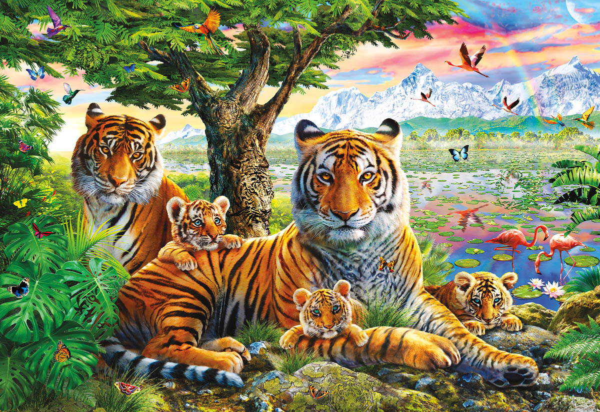 Hidden Tigers Wildlife Jigsaw Puzzle