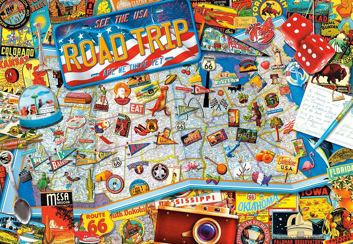 Are We There Yet? Travel Jigsaw Puzzle
