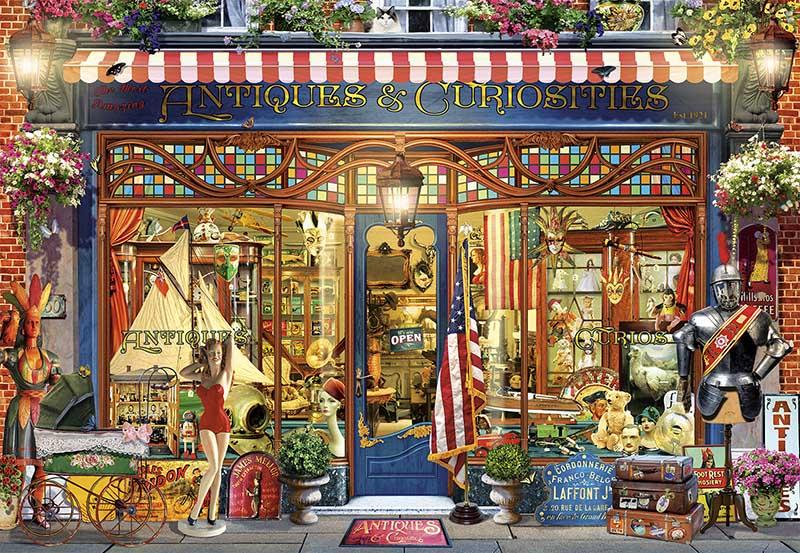 Antique Curiosities Shopping Jigsaw Puzzle