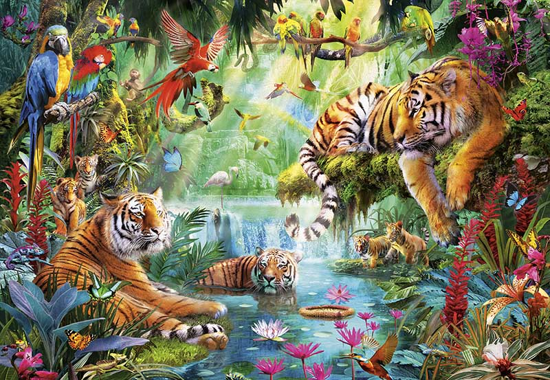 Tiger Lagoon Jungle Animals Jigsaw Puzzle