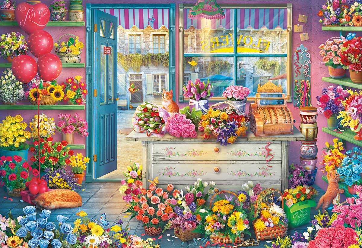 In Full Bloom Flowers Jigsaw Puzzle