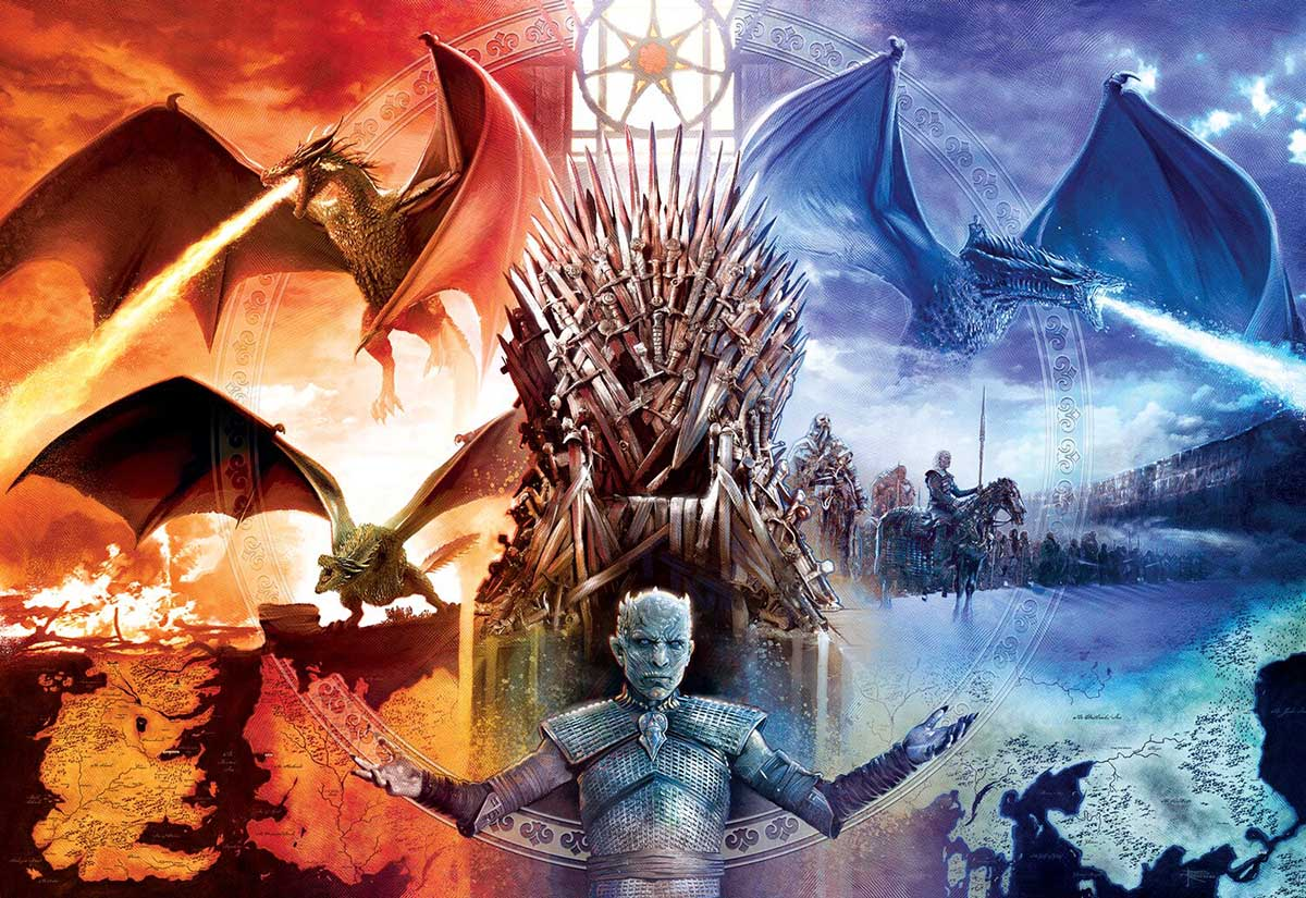 Game of Thrones - Fire and Ice - Scratch and Dent Game of Thrones Jigsaw Puzzle