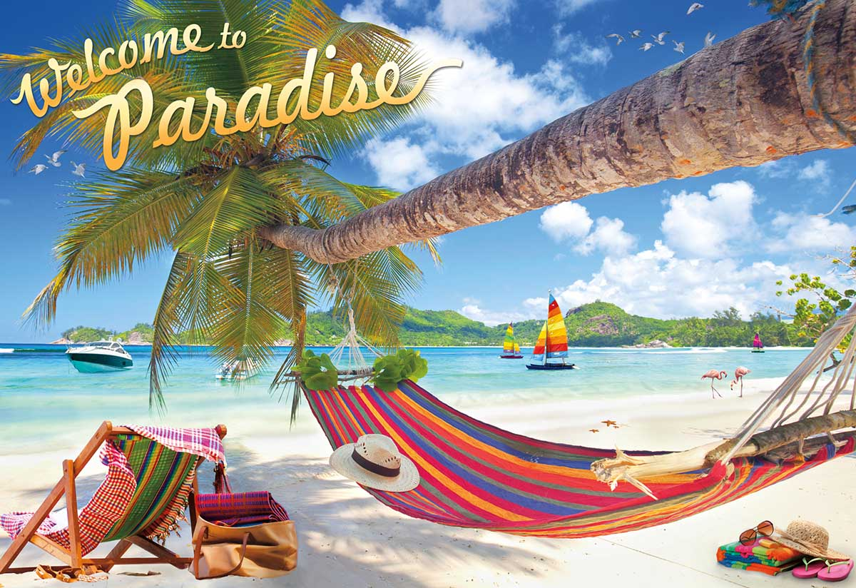 Welcome to Paradise Beach Jigsaw Puzzle