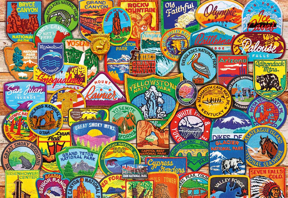 National Park Patches United States Jigsaw Puzzle