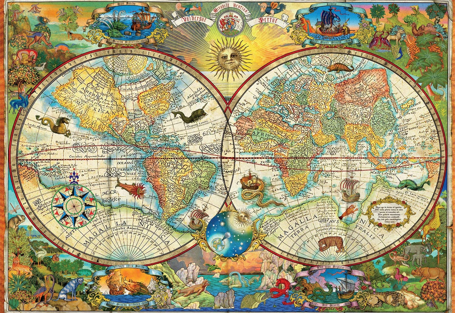 Vintage World Map Maps / Geography Jigsaw Puzzle