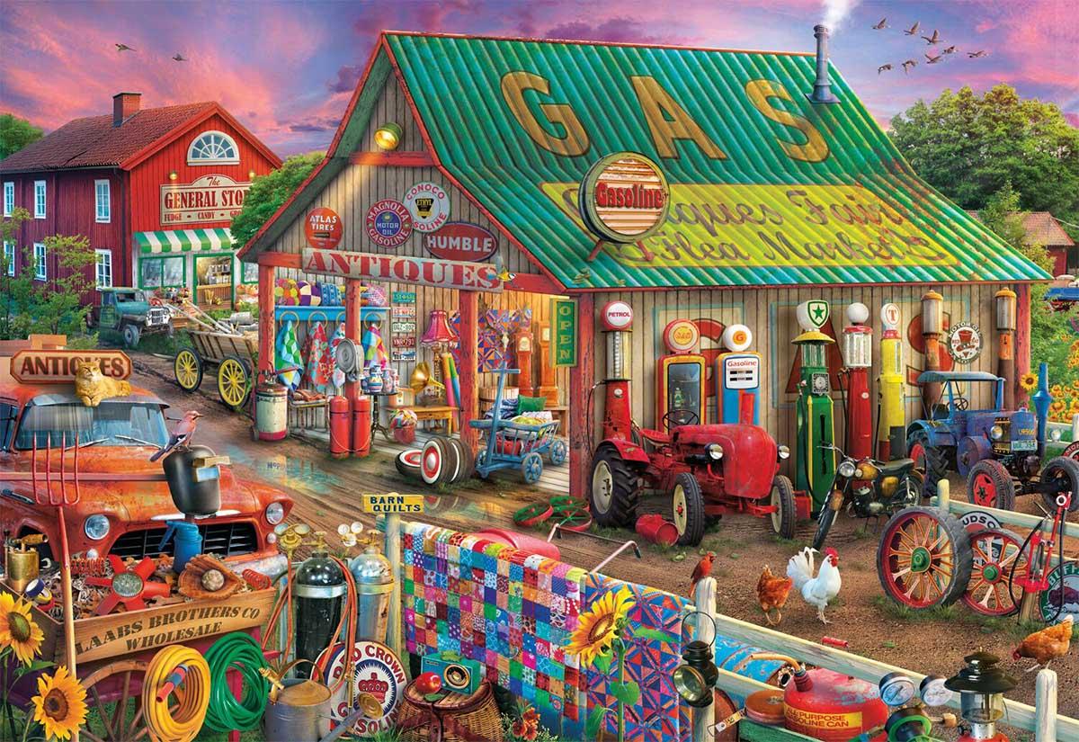 Antique Market Farm Jigsaw Puzzle