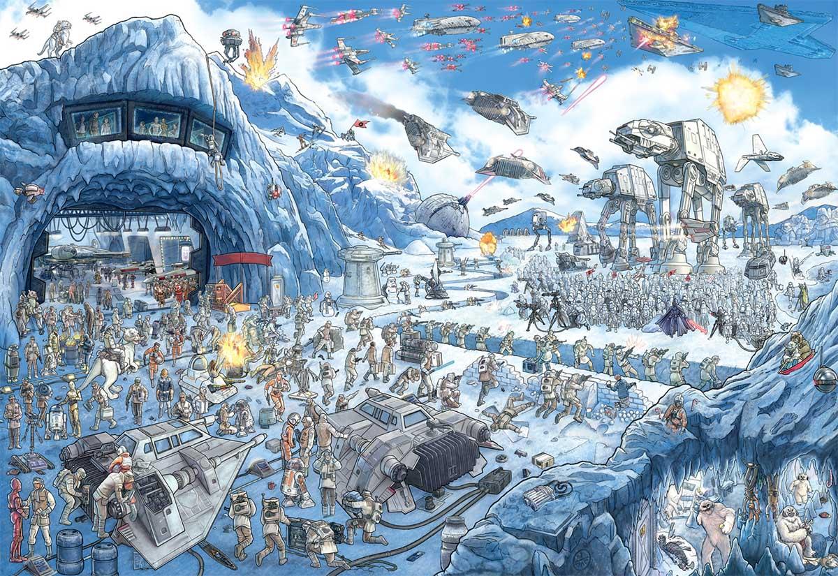Battle of Hoth Star Wars Hidden Images