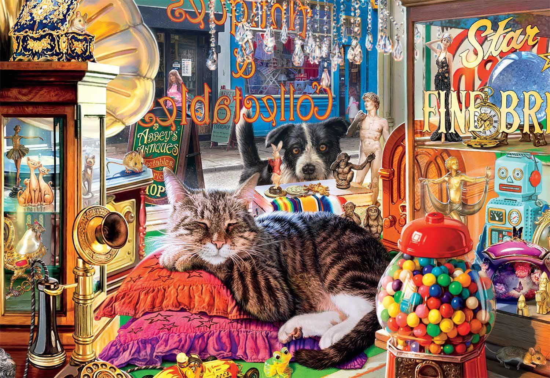 Curiosity Shop Cats Jigsaw Puzzle