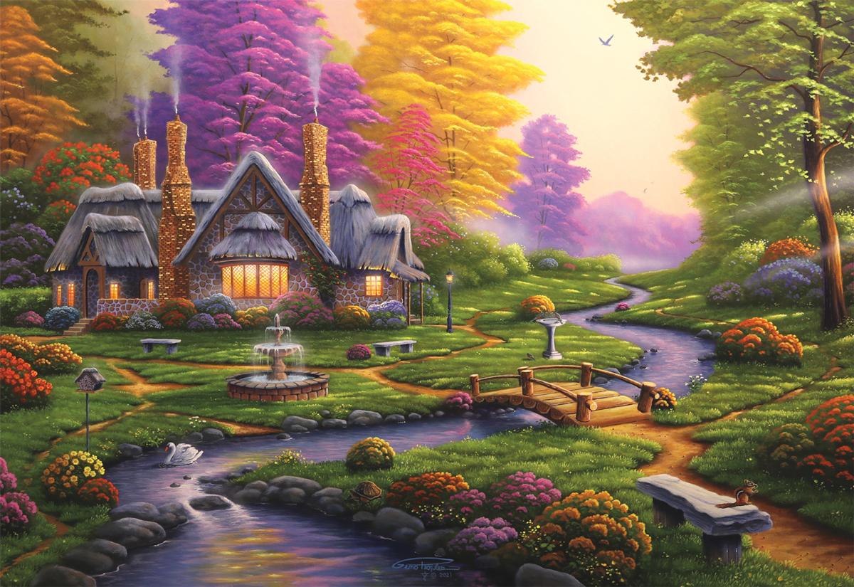 A Dreamy Retreat Garden Jigsaw Puzzle