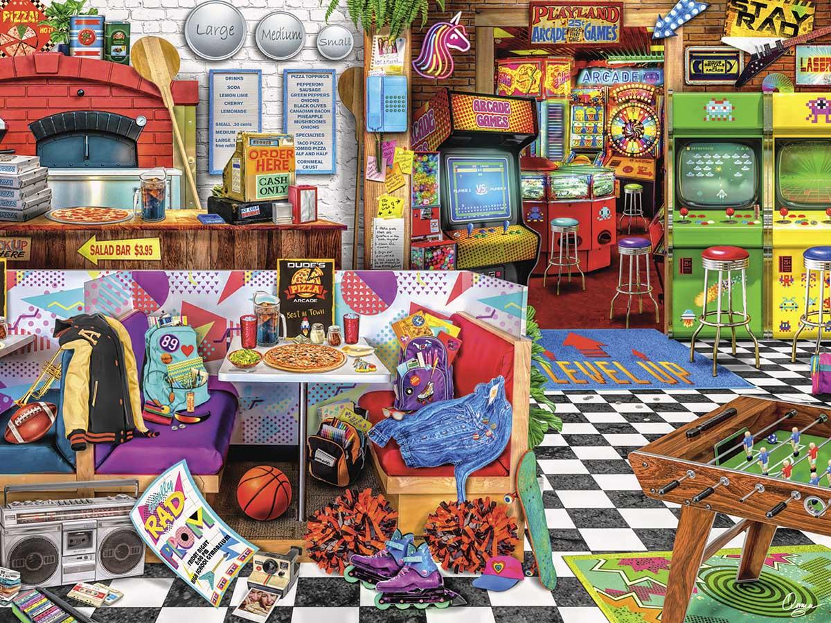 Pizza Arcade Nostalgic / Retro Jigsaw Puzzle