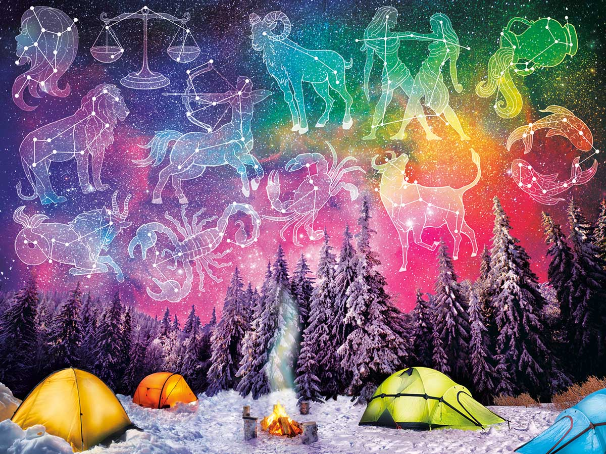 Written In The Stars Space Jigsaw Puzzle