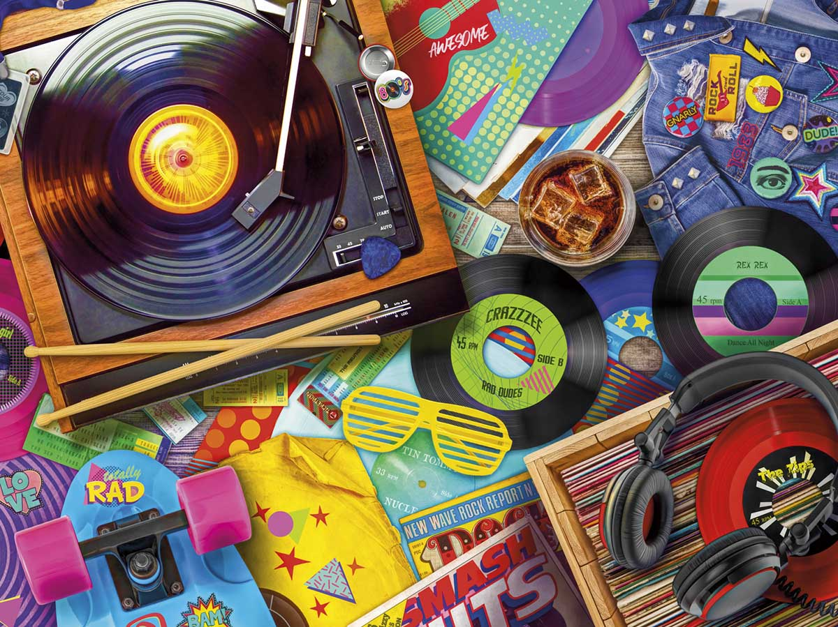 Get in the Groove Nostalgic / Retro Jigsaw Puzzle