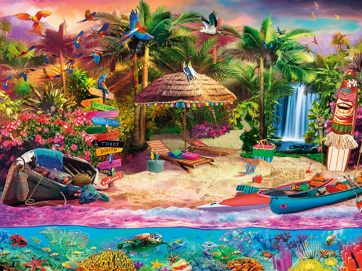 Tropical Island Holiday - Scratch and Dent Beach Jigsaw Puzzle