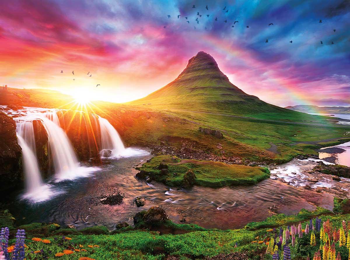 Iceland Sunset Landscape Jigsaw Puzzle