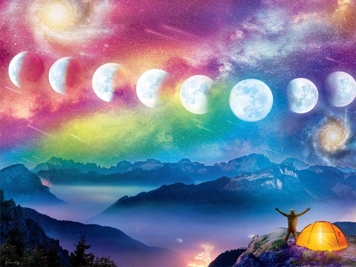 Moon Cycle Mountains Jigsaw Puzzle