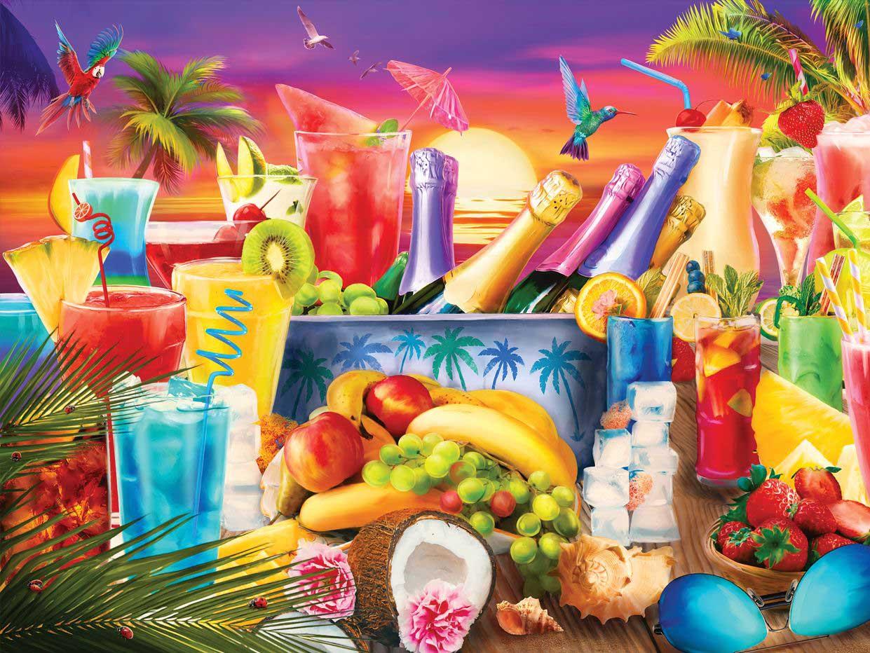 Happy Hour 2 Seascape / Coastal Living Jigsaw Puzzle