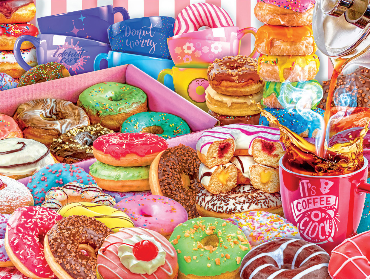 Donut Worry, Be Happy! Food and Drink Jigsaw Puzzle