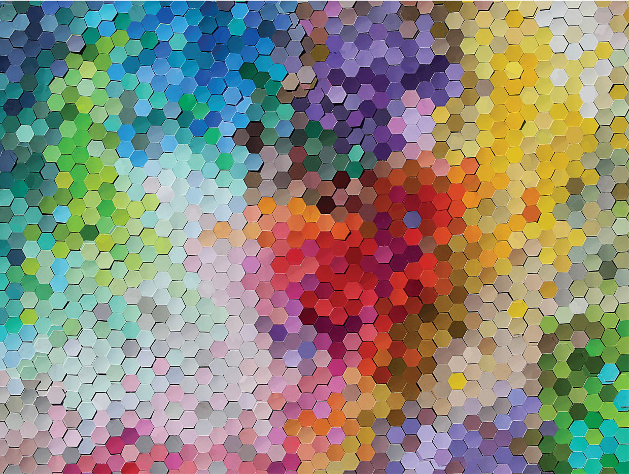 Hex Appeal Pattern / Assortment Jigsaw Puzzle