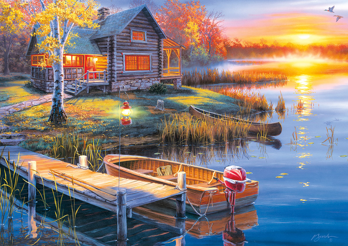 Autumn at the Lake - Scratch and Dent Lakes / Rivers / Streams Jigsaw Puzzle
