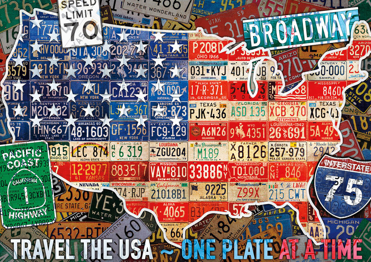 Travel the USA Patriotic Jigsaw Puzzle