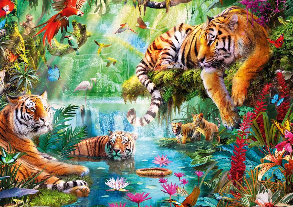 Tiger Lagoon Tigers Jigsaw Puzzle