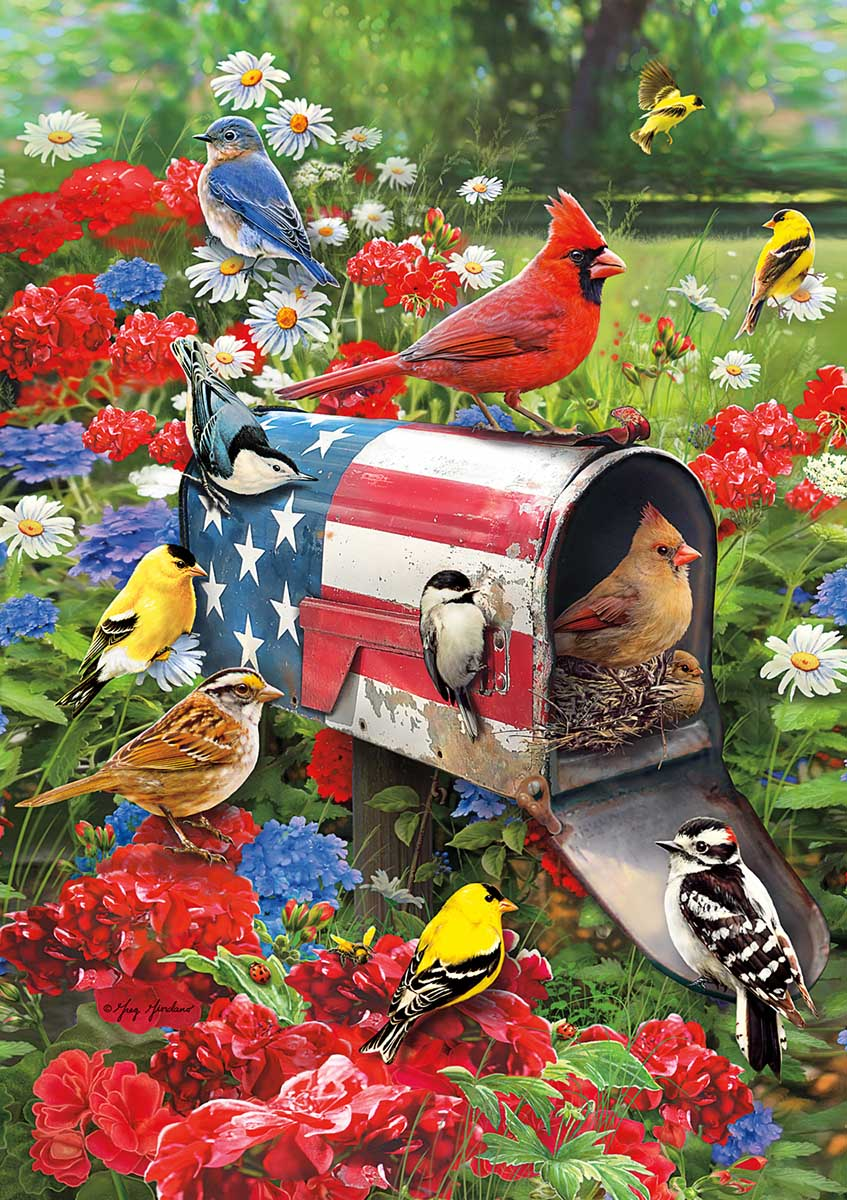 Special Delivery Birds Jigsaw Puzzle