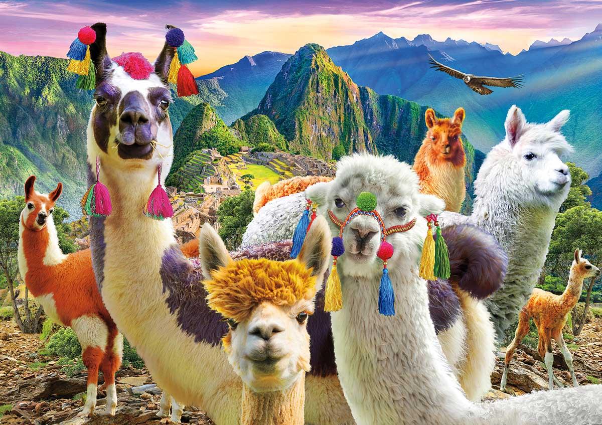 Ooh La Llamas Animals Jigsaw Puzzle