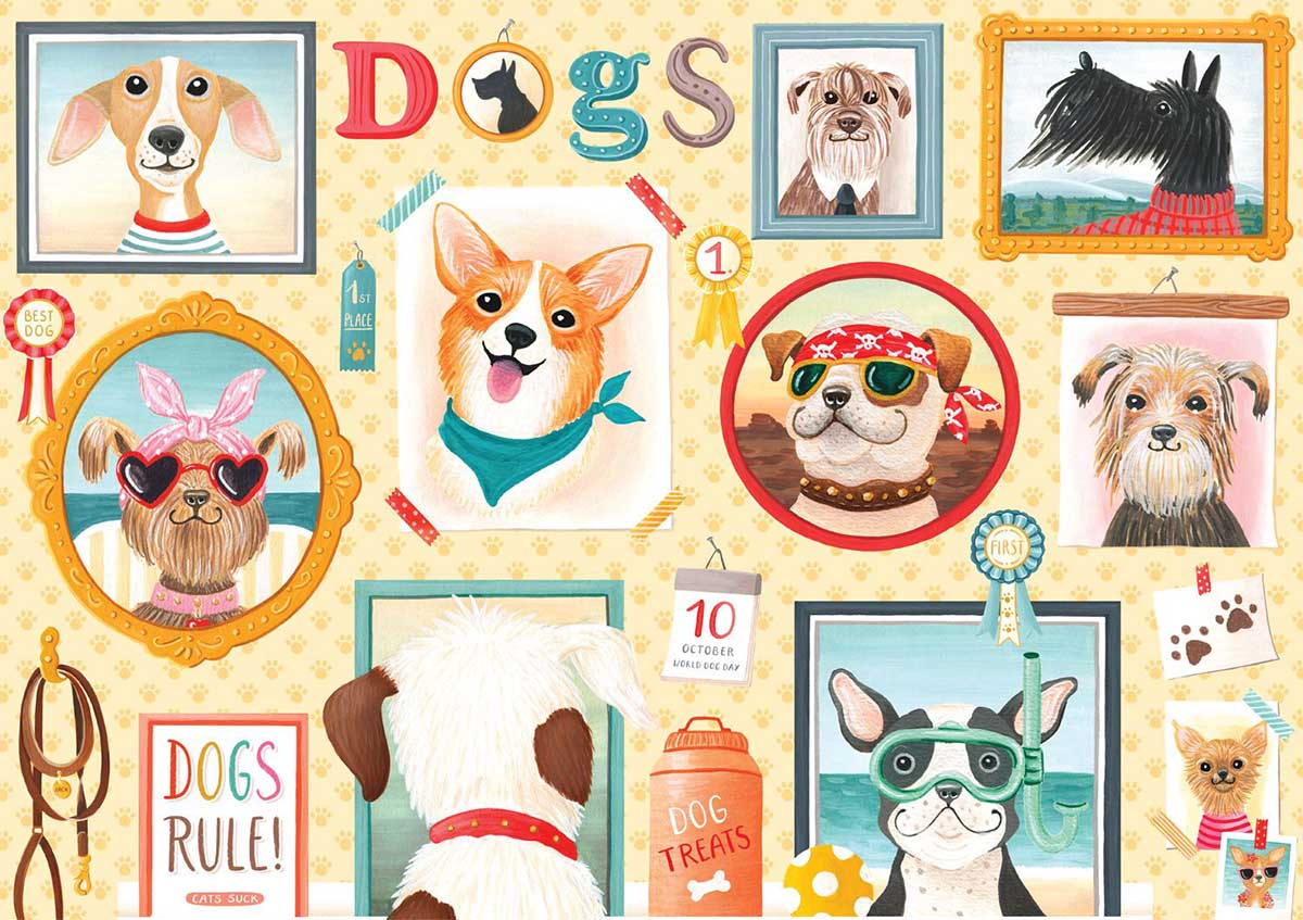 Dog's Rule Dogs Jigsaw Puzzle